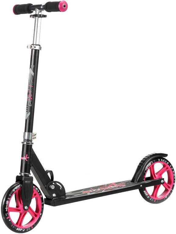 MUUWMI koloběžka Scooter dětská skládací hliníková černorůžová kov