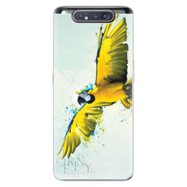 Odolné silikonové pouzdro iSaprio - Born to Fly - Samsung Galaxy A80