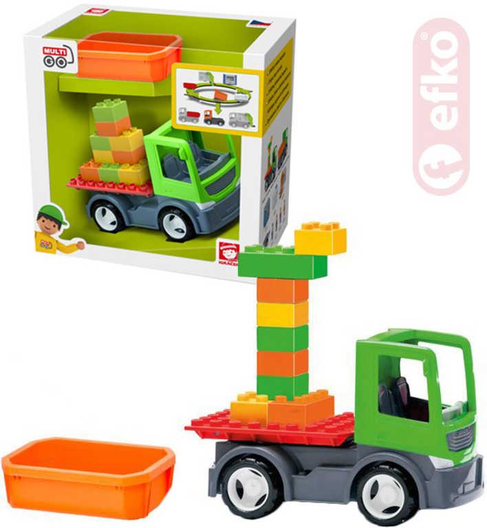 EFKO IGRÁČEK MultiGO 1+2 Set auto se dvěma korbičkami a kostkami plast