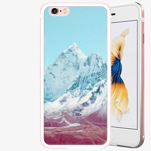 Plastový kryt iSaprio - Highest Mountains 01 - iPhone 6 Plus/6S Plus - Rose Gold