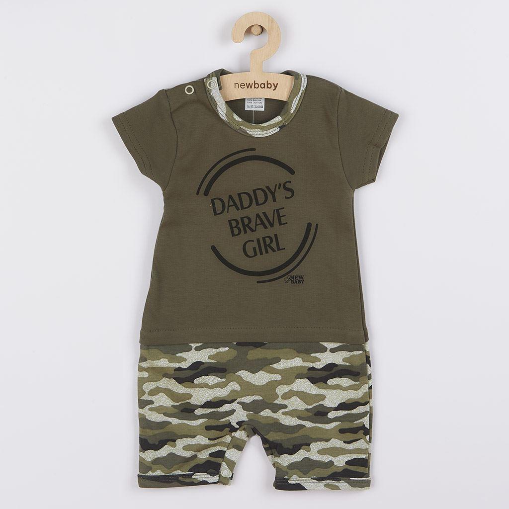 Kojenecký letnveral New Baby Army girl