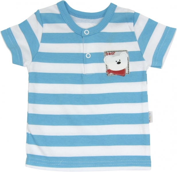 Bavlněné Polo tričko Lev proužek - krátký
