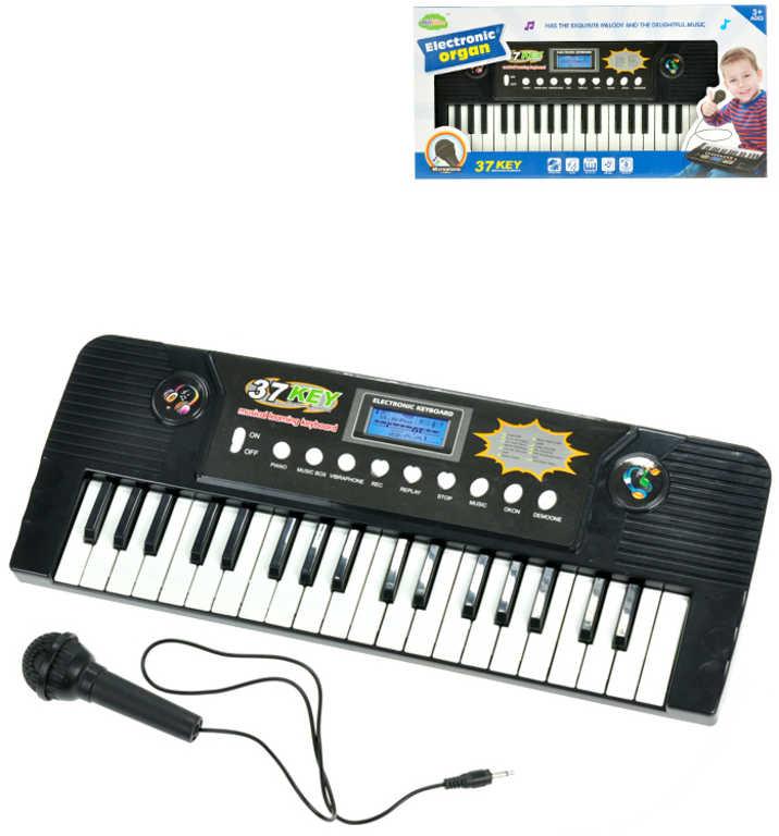 Pianko elektronické dětský keyboard 37 kláves set s mikrofonem na baterie