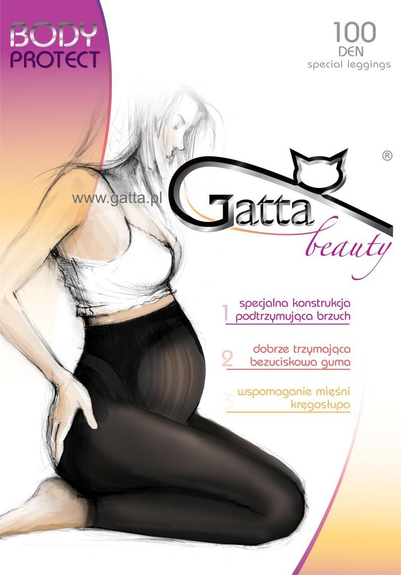 Těhotenské legíny BODY PROTECT 100 DEN - GATTA - Černá/2-S