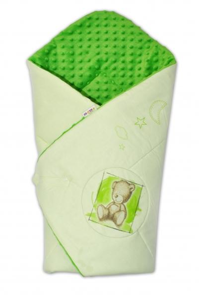 Zavinovačka, bavlněná s minky 75x75cm by Teddy - sv. zelená, tm. zelená