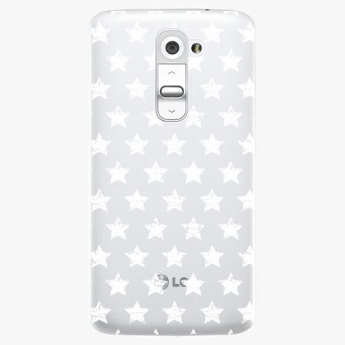 Plastový kryt iSaprio - Stars Pattern - white - LG G2 (D802B)
