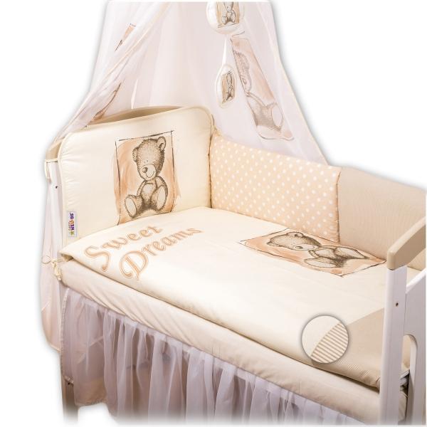Baby Nellys Mantinel 420cm s povlečením Sweet Dreams by Teddy - pískový - 140x70