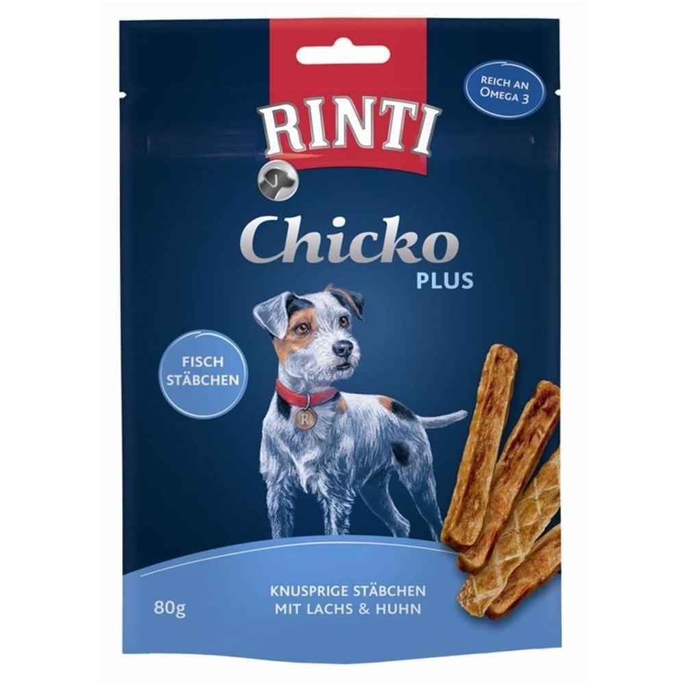 Pochoutka RINTI Extra Chicko Plus losos + kuře 80 g
