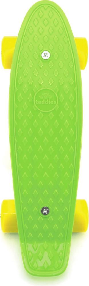 Skateboard dětský pennyboard zelený 43cm plastové osy žlutá kola