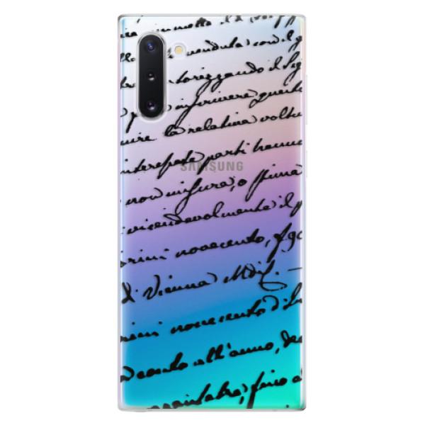 Odolné silikonové pouzdro iSaprio - Handwriting 01 - black - Samsung Galaxy Note 10