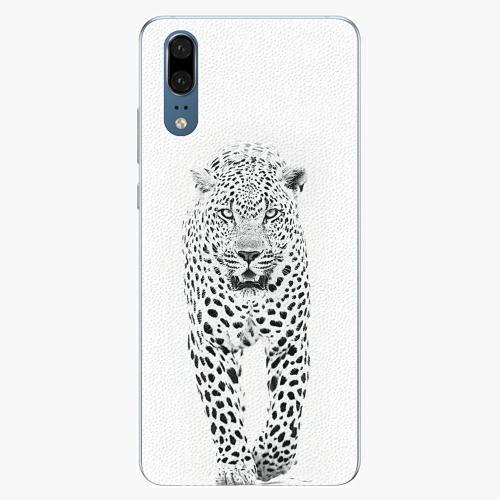 Silikonové pouzdro iSaprio - White Jaguar - Huawei P20