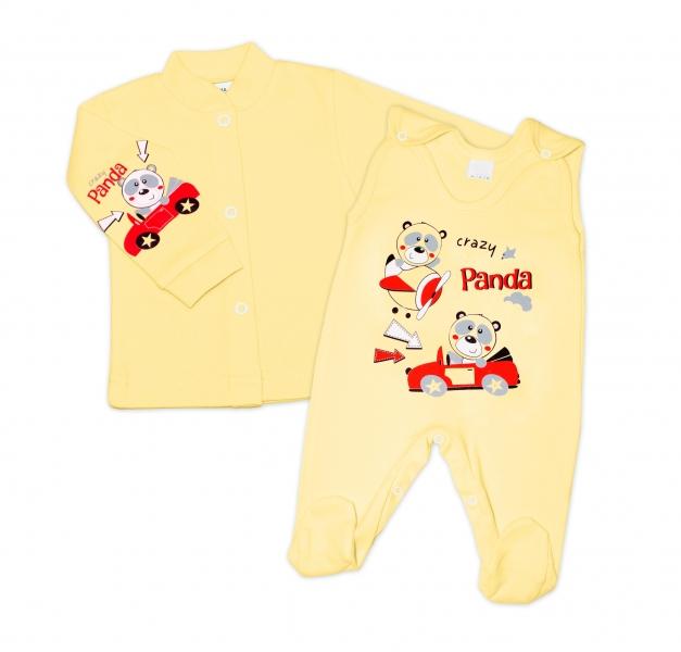 Gama 2-dílná soupravička košilka + dupačky - žlutá, různé