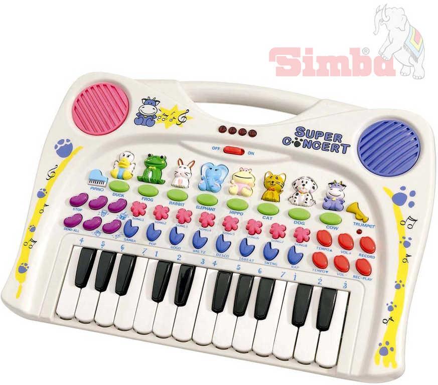 SIMBA Piano klávesy se zvířátkem