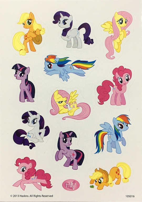 Samolepky MLP My Little Ponny koníci set 3 archy v sáčku