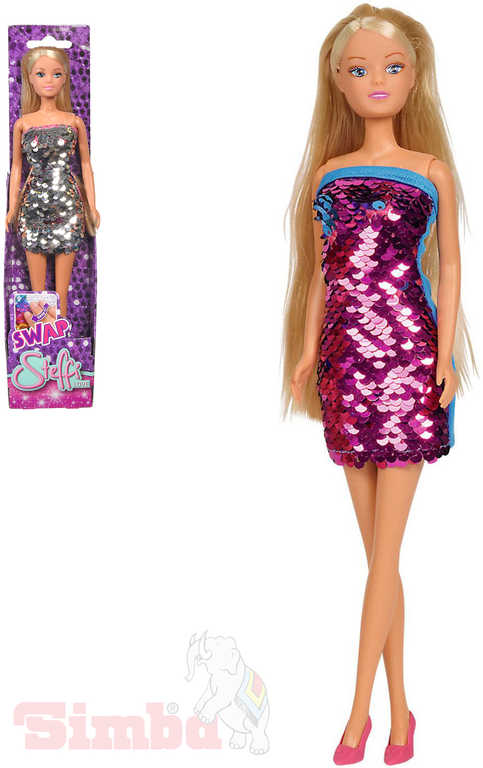 SIMBA Panenka Steffi Love 29cm flitrové šaty různé barvy