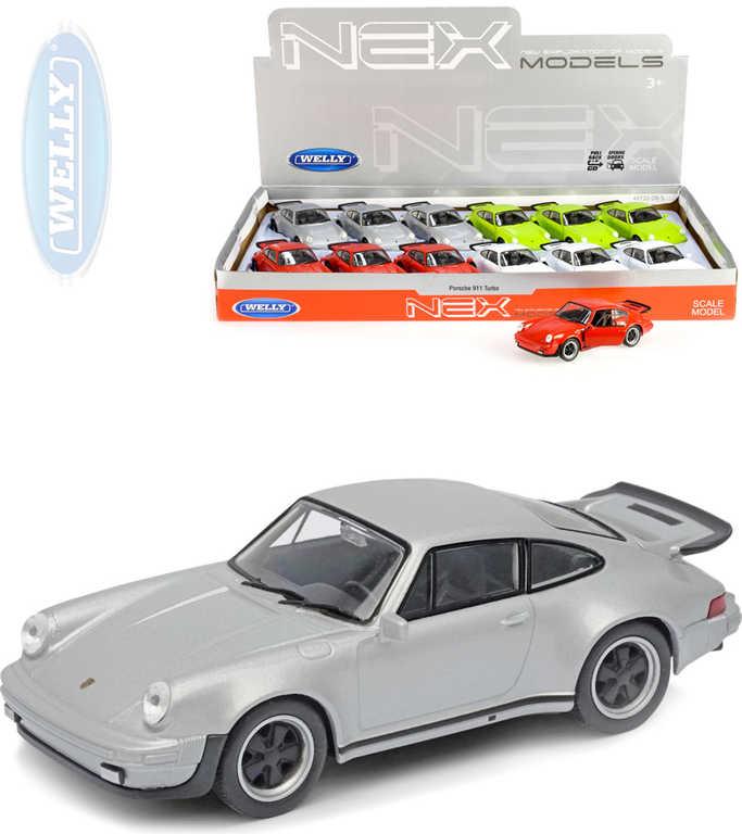 WELLY Auto model Porsche 911 Turbo kov 11cm PB 4 barvy