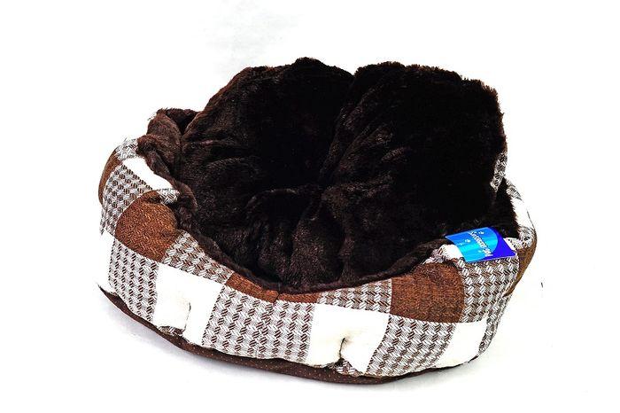 Hnědobéžový pelíšek pro psy - 45x40 cm