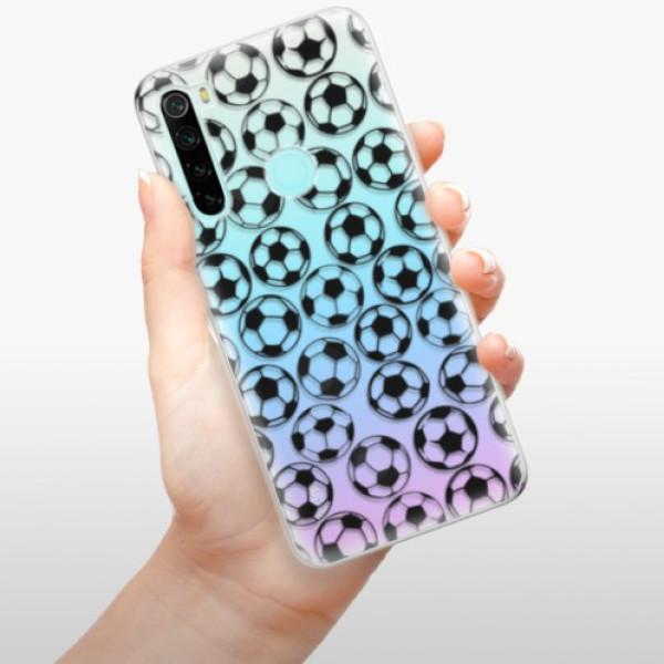 Odolné silikonové pouzdro iSaprio - Football pattern - black - Xiaomi Redmi Note 8