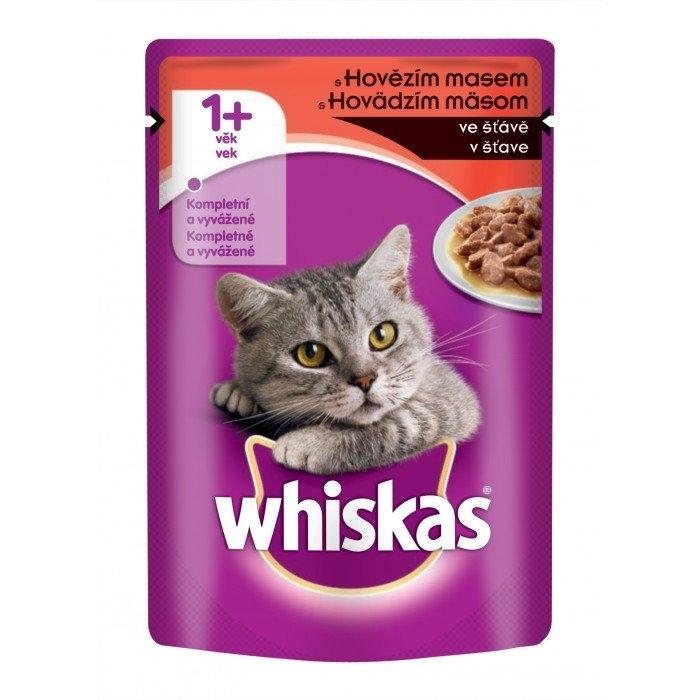 S hovězím ve šťávě kapsička pro kočky 100 g