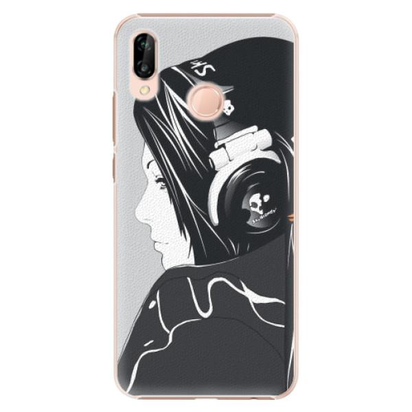 Plastové pouzdro iSaprio - Headphones - Huawei P20 Lite