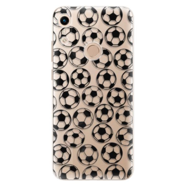 Odolné silikonové pouzdro iSaprio - Football pattern - black - Huawei Honor 8A
