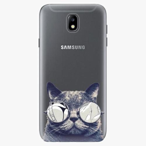 Plastový kryt iSaprio - Crazy Cat 01 - Samsung Galaxy J7 2017