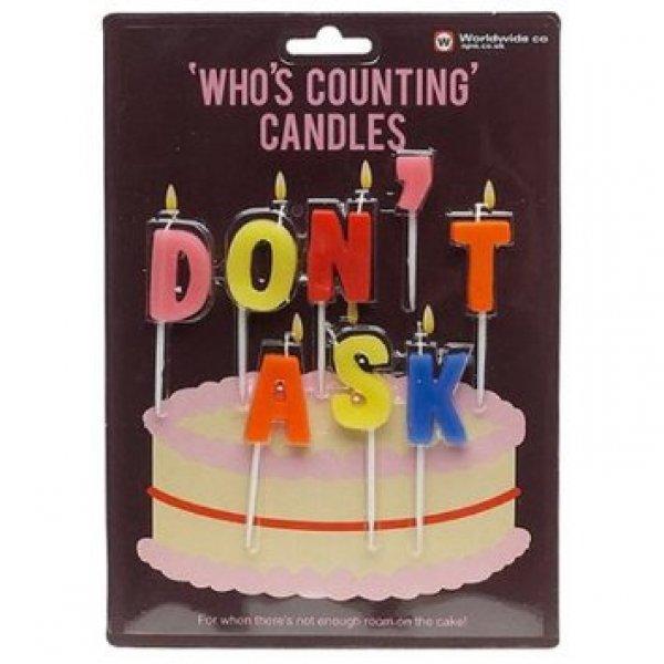 Narozeninové svíčky na dort - Don't ask