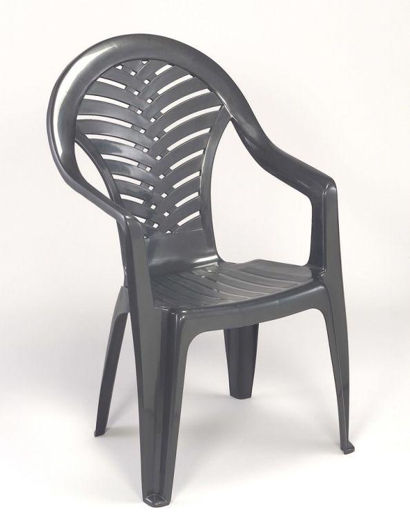 Židle vysoká OCEÁN - grafit