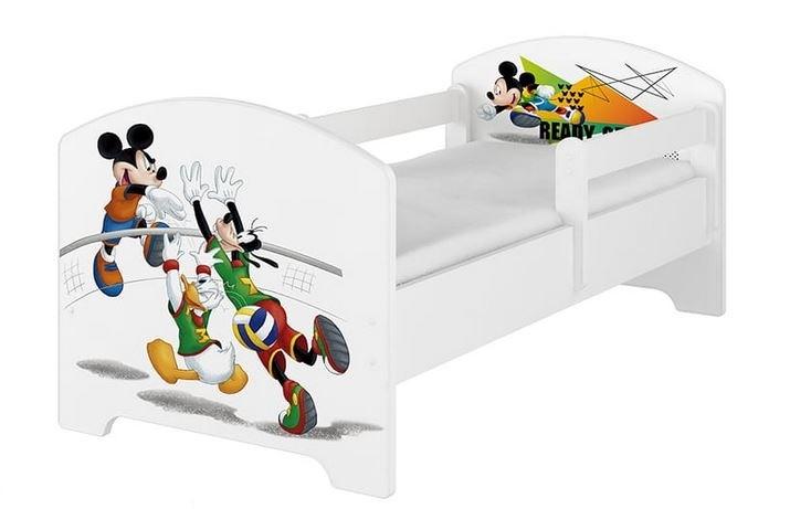 BabyBoo Dětská postel 140 x 70cm Disney - Mickey Volleyball, bílá - 140x70