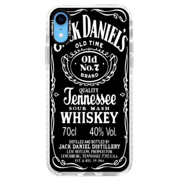 Silikonové pouzdro Bumper iSaprio - Jack Daniels - iPhone XR