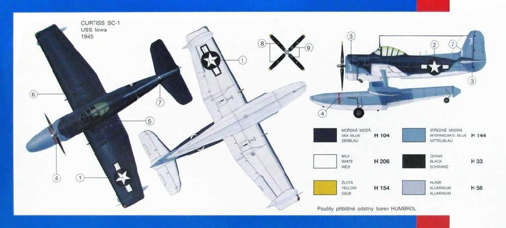 SMĚR Model letadlo Curtiss SC1 Seahawk 1:72 (stavebnice letadla)