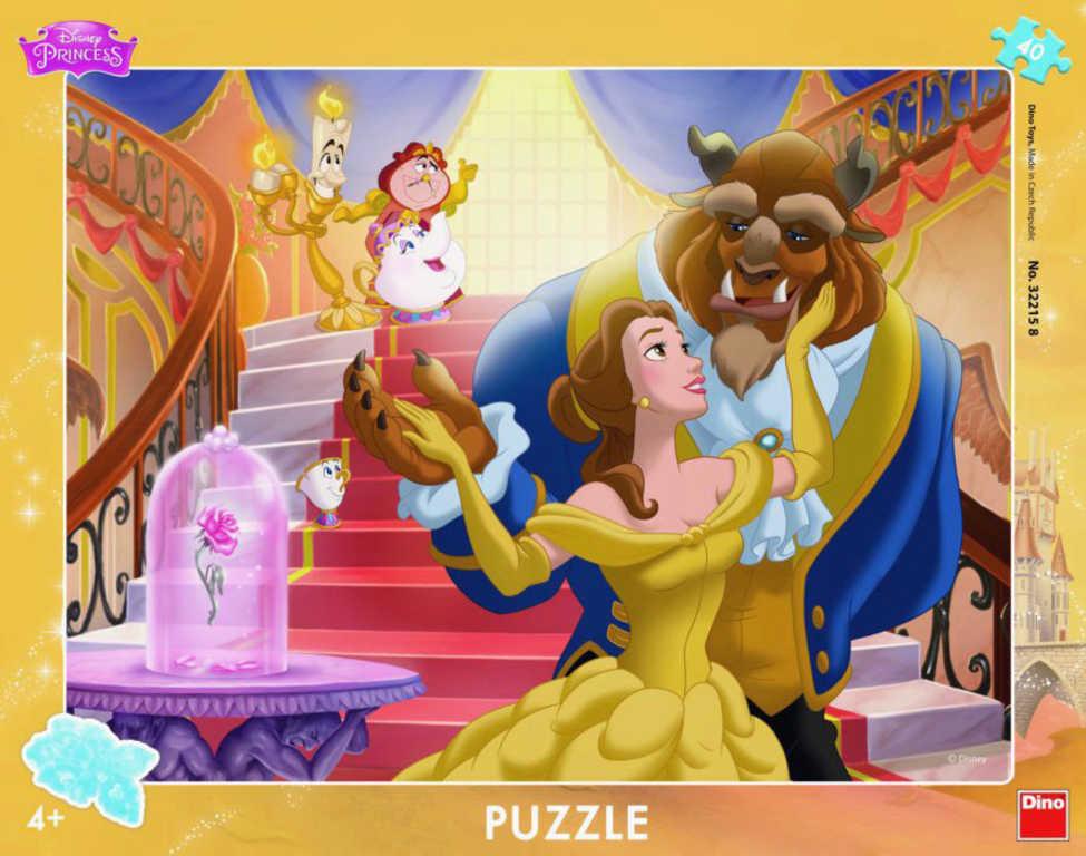 DINO Puzzle deskové 40 dílků Kráska a zvíře skládačka 32x24cm