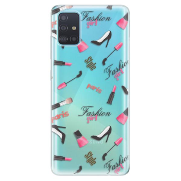 Odolné silikonové pouzdro iSaprio - Fashion pattern 01 - Samsung Galaxy A51