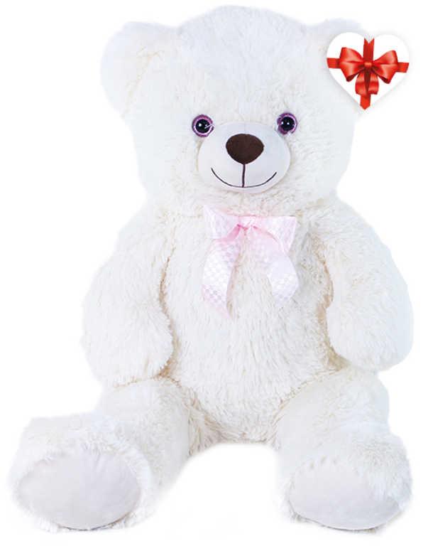 PLYŠ Medvěd Lily 78cm krémový s mašličkou s věnováním *PLYŠOVÉ HRAČKY*