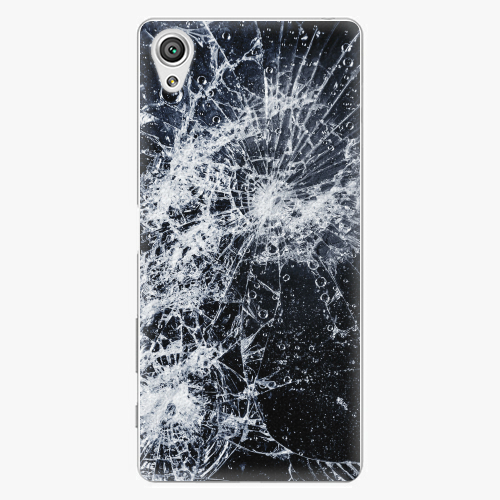 Plastový kryt iSaprio - Cracked - Sony Xperia X