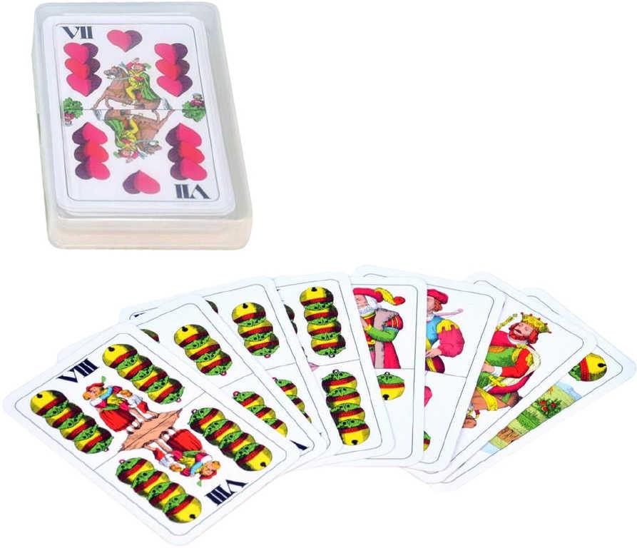 BONAPARTE Hra karty Mariáš dvouhlavý v plastové krabičce