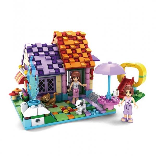 Stavebnice AUSINI dívčí svět domek s klouzačkou 424 dílků