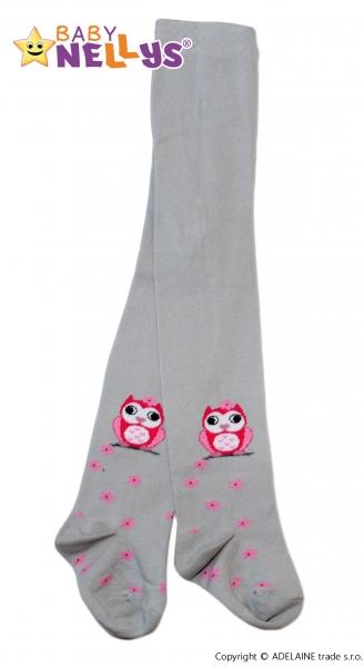 Bavlněné punčocháče Baby Nellys ® - Sovička