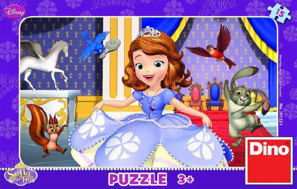 DINO Puzzle Disney Sofia První 15 dílků v krabici 25x14cm