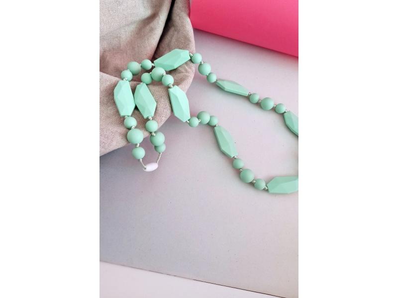 MIMIKOI - Kojící korále hravé tvary světle modré