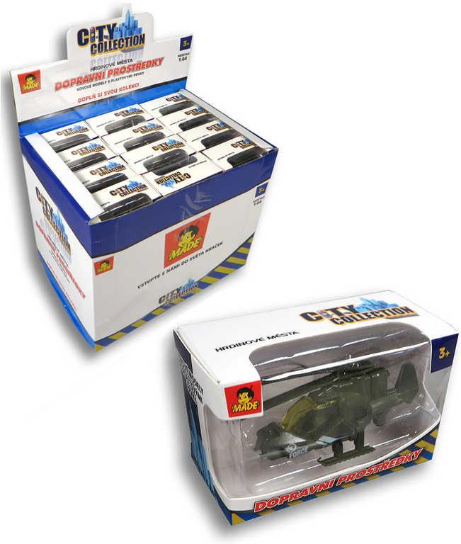 Auto City Collection vojenská technika 12 druhů v krabičce plast