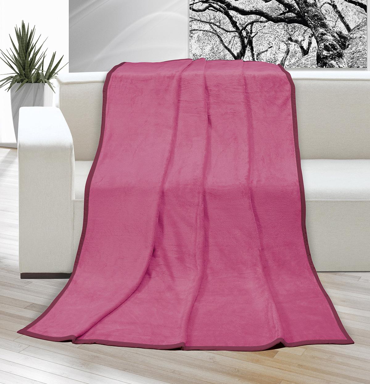 Deka micro dvojlůžko 200x230cm růžová