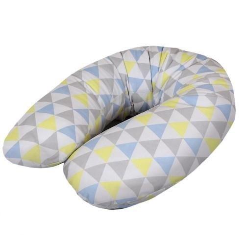 Kojící polštář - relaxační poduška Cebuška Physio Multi - Trojúhelníky