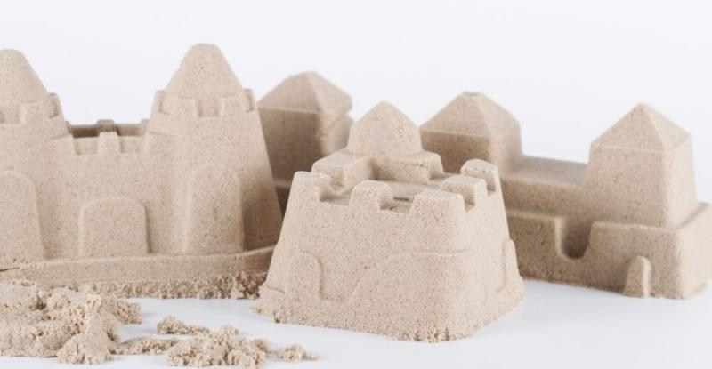 Adam Toys, Kinetický písek přírodní - 5kg + nafukovací pískoviště