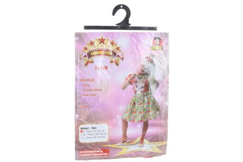 Šaty na karneval - klaun dívka, 110 - 120 cm