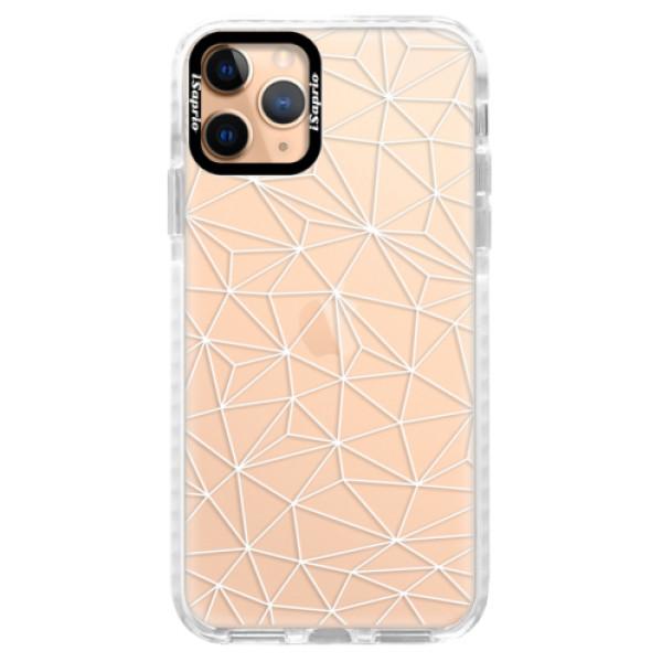 Silikonové pouzdro Bumper iSaprio - Abstract Triangles 03 - white - iPhone 11 Pro
