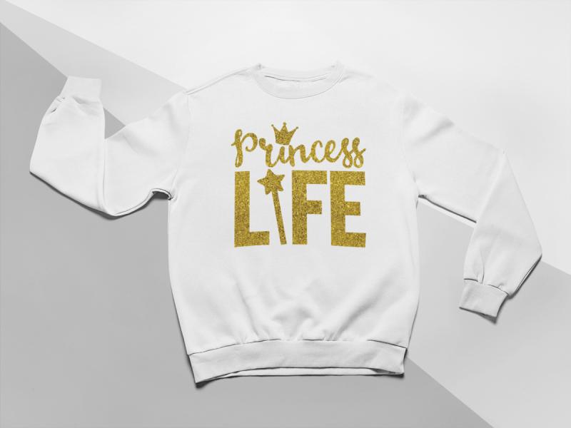 kidsbee-moderni-detska-divci-mikina-princess-life-bila-vel-122-122