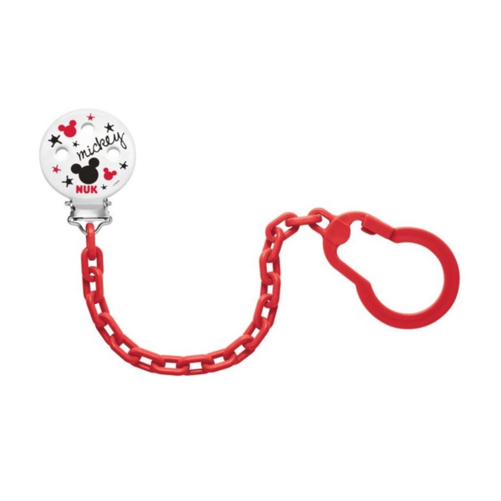Řetízek na šidítko NUK Disney Mickey červený - červená