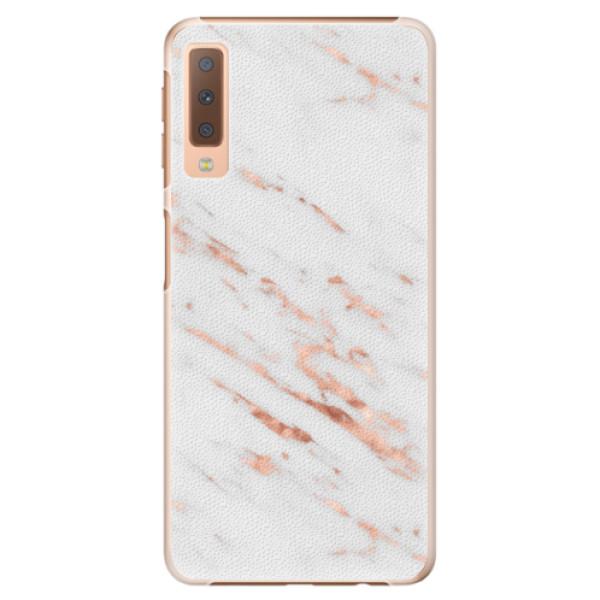Plastové pouzdro iSaprio - Rose Gold Marble - Samsung Galaxy A7 (2018)
