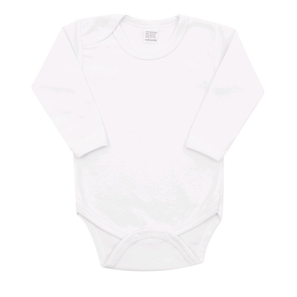 Body dlouhý rukáv New Baby - bílá/92 (18-24m)